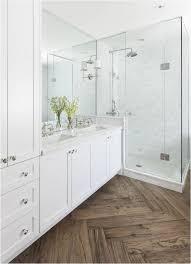 Waterproof Bathroom Spotlights Herringbone Pattern Waterproof Vinyl Wood Plank Floor