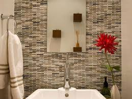 bathroom accent wall tile ideas stacked stone wall in bathroom