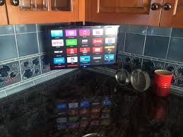 Tv Under Cabinet Kitchen Our Work South Shore Audio Video Installation