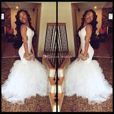 african backless white mermaid prom dresses 2016 sweep train