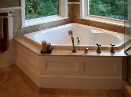 Corner Tub Bathroom Ideas Colors Corner Tub With Wood Surround Bathroom Pinterest Corner Tub