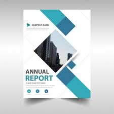templates for book covers free blue creative annual report book cover template vector free