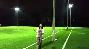 how tall are football stadium lights futsal field lighting demo youtube