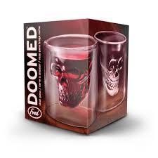 cool glassware amazon com fred doomed crystal skull shotglass shot glasses