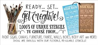 reusable crafting stencils with thousands of design choices we