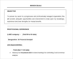 My Objective In Resume Resume Template Example Resume Templates Examples Free With