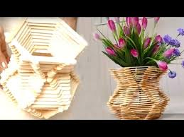 How To Make Home Decoration How To Make A Indian Kalasi For Home Decoration Popsicle Stick