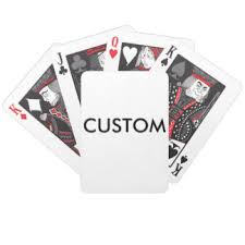 Playing Card Design Template Blank Templates Playing Cards Zazzle