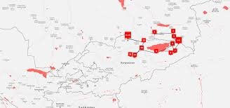 Kyrgyzstan Map Multi Active Kyrgyzstan U0026 Kazakhstan Tour Kalpak Travel