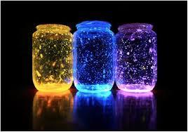 Glow in the dark Jar crafts