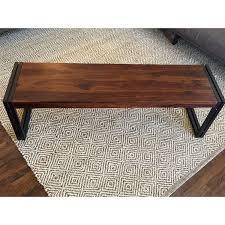 handmade timbergirl reclaimed seesham wood bench with metal legs