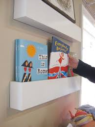 How To Build Wall Shelves How To Make Wall Shelves For Books In The Nursery Young House Love