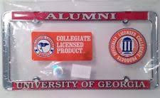 uga alumni car tag craftique domed tech alumni license plate frame ebay