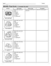 identify 12 common rocks by means of the rock chart articulate
