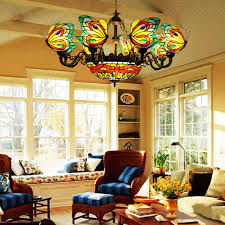 Dragonfly Light Fixture Fumat Stained Glass Chandelier Butterfly Suspension Hangl