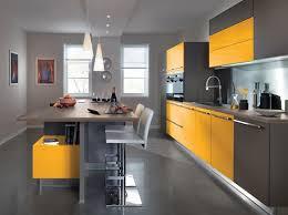 cuisine orange et gris six surprenantes décos cuisine jaune et gris