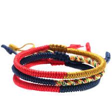 knot rope bracelet images Handmade jewelry multi color tibetan buddhist lama braided knots jpg