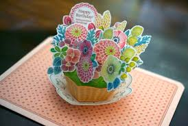 flower basket tutorial flower basket pop up card