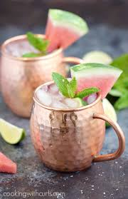 watermelon moscow mule cooking with curls