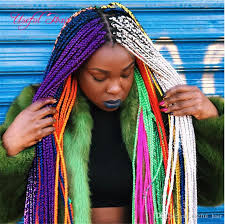 extension braids 3x box braids grey hair extensions 100g crotchet box braids
