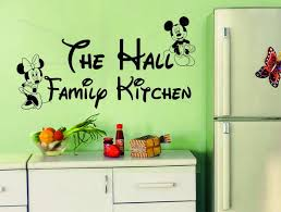 personalised family name kitchen vinyl wall sticker disney minne personalised family name kitchen vinyl wall sticker disney minne