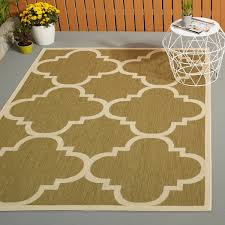 Safavieh Outdoor Rug Safavieh Courtyard Quatrefoil Green Beige Indoor Outdoor Rug