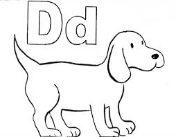 preschool coloring pages dog kidspaperairplane