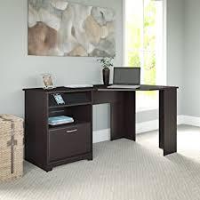 Vantage Corner Desk Amazon Com Cabot Corner Desk In Espresso Oak Kitchen U0026 Dining
