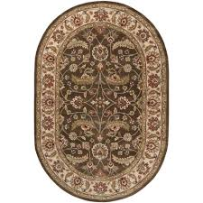 6 X 9 Oval Area Rugs Artistic Weavers Brown 6 Ft X 9 Ft Oval Area Rug Jhn 1003