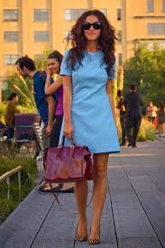 women u0027s light blue shift dress brown leopard suede ballerina