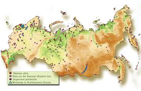 Map Of Eastern Europe And Russia by Wetlands Of Russia