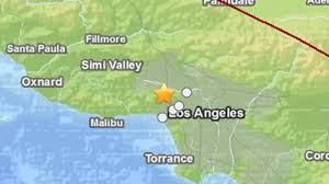 Earthquake Map Usgs Magnitude 4 4 Earthquake Strikes L A Area Ktla