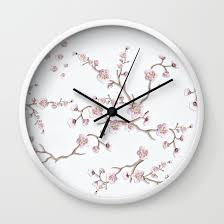 Feminine Clock - grunge white wall clock white wall clocks wall
