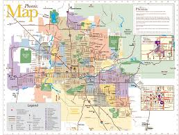Winslow Arizona Map by Phoenix Mesa Map Tourist Attractions Travel Map Vacations