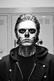 Skeleton Face Painting For Halloween by Skull Makeup American Horror Story Zombie Boy Beauty