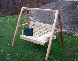 red cedar royal highback porch swing w stand