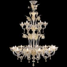 Murano Chandeliers Huge Murano Chandelier Double Floor With Crown Crystal With Gold