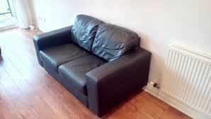Ikea 2 Seater Leather Sofa Ikea Skogaby 2 Seater Grain Leather Sofa Black In Southton