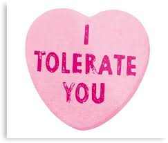 heart candy i tolerate you s day heart candy metal prints by