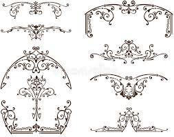curlicues vector vintage ornaments stock vector image