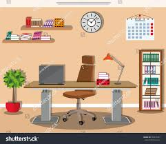 modern office interior design stylish furniture stock vector