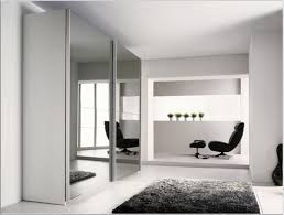 Home Decor Sliding Wardrobe Doors Incredible Modern White Wardrobe Design Idea With Large Mirrors