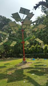 solar powered trees more energy with drastically less space