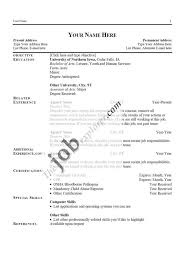 Resume For University Application Sample Free Resume Templates Download Format In Ms Word Of A For Teaching