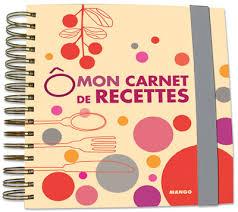 cahier de cuisine vierge mon carnet de recettes cartonné laure trombini achat