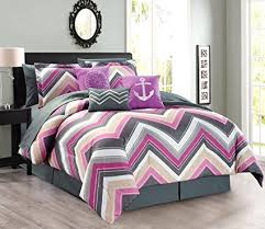 Anchor Bedding Set 11 Oversize Chevron Zigzag Designer Nautical