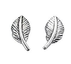 feather stud earrings feather stud earrings in sterling silver bjcuk co uk
