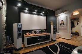 My Living Room Looks Exactly Like This Yeah Right - Living room with home theater design