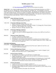 resume objective sle resume sle best of general science