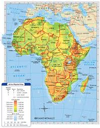 Map Of Africa Physical by Africa Is Broken Into Many Different Regions Sahara Sah